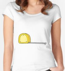 cartoon measuring tape Women's Fitted Scoop T-Shirt