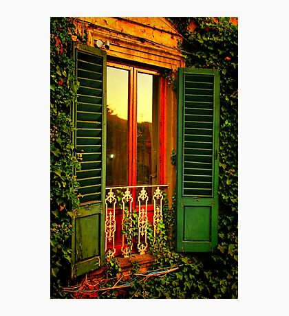 Golden Window Light Photographic Print