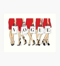 VOGUE shopping Girls Art Print