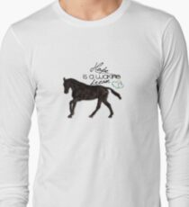 """Hope is a waking dream"" equestrian style Long Sleeve T-Shirt"