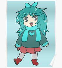 Chibi Blue-Green Girl Poster