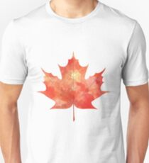 Watercolor Maple Leaf Unisex T-Shirt