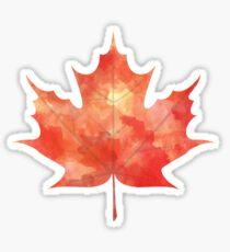 Watercolor Maple Leaf Sticker