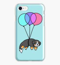 Balloon Bernese Mountain Dog iPhone Case/Skin