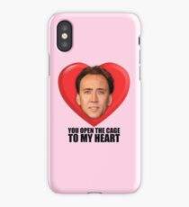 Nicolas Cage - You Open the Cage to My Heart iPhone Case/Skin