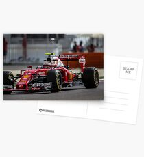 Formula 1 racing cars 2016 Kimi Raikkonen  Postcards