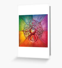 """Heart of Infinity"" - Mandala of Wealth and Balance Greeting Card"