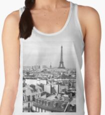 Paris rooftops and Eiffel Tower Women's Tank Top