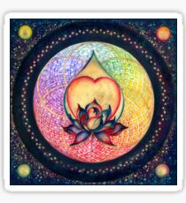 """The Drop of Golden Rain"" - Mandala of Wealth Sticker"