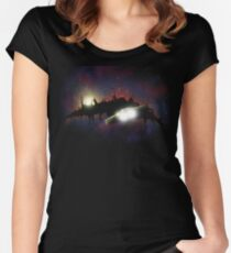 Transformers - Planetfall on Junk Women's Fitted Scoop T-Shirt