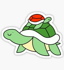 Big Turtle and Little Red Turtle Sticker