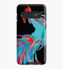 Blue  Rooster Case/Skin for Samsung Galaxy