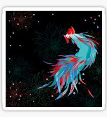 Blue  Rooster Sticker