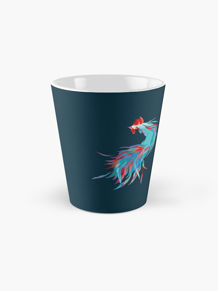 Alternate view of Blue  Rooster Mug