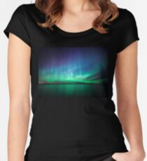 Beautiful northern lights Women's Fitted Scoop T-Shirt