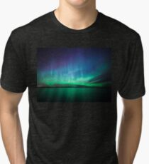 Beautiful northern lights Tri-blend T-Shirt