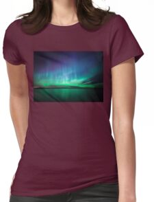 Beautiful northern lights Womens Fitted T-Shirt