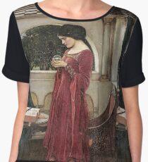 John William Waterhouse - The Crystal Ball . Woman portrait: sensual woman, girly art, female style, pretty women, femine, beautiful dress, cute, creativity, love, sexy lady Women's Chiffon Top