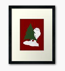 Holiday Yeti Framed Print