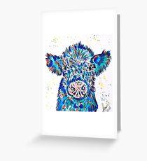 BLUE COW CALF Greeting Card