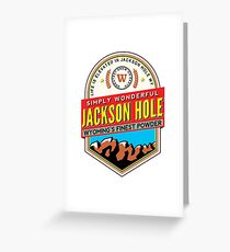 JACKSON HOLE WYOMING Mountain Skiing Ski Snowboard Snowboarding Powder Greeting Card