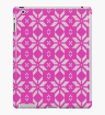 Knitted Snowflake Pink iPad Case/Skin