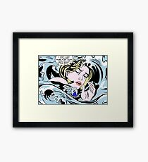 Drowning Alice Framed Print