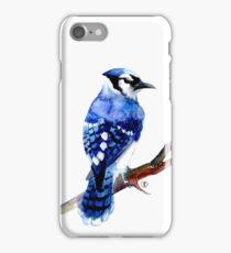 Watercolor blue jay  iPhone Case/Skin