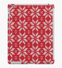 Knitted Snowflake Red iPad Case/Skin