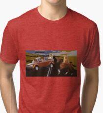 Twitter roads converge  Tri-blend T-Shirt