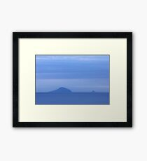 Islands Sea Water Ocean Blue Dawn Sunrise Clouds Framed Print
