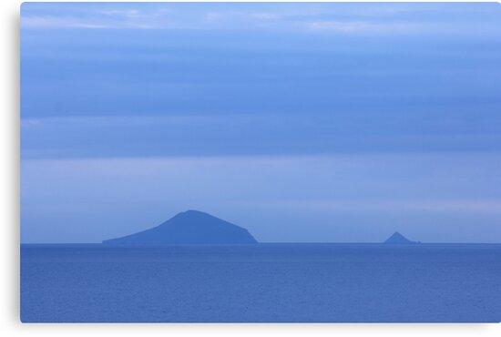 Islands Sea Water Ocean Blue Dawn Sunrise Clouds by Beverly Claire Kaiya