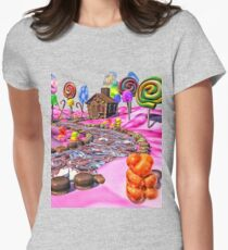 Pink Candyland Womens Fitted T-Shirt