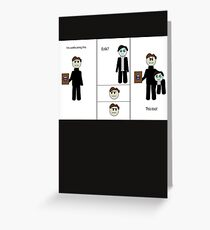 Chibi Charles and Possessive Erik by AaliaKnife Greeting Card