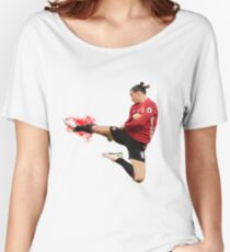 Zlatan Ibrahimovic flying ninja kick Women's Relaxed Fit T-Shirt