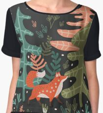 Evergreen Fox Tale Women's Chiffon Top