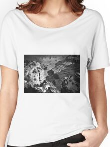 winter at Grand Canyon national park, USA in black and white Women's Relaxed Fit T-Shirt