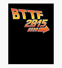 Back to the future 2015 Logo Photographic Print