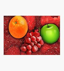 ❀◕‿◕❀ FRESH FRUITS ❀◕‿◕❀ Photographic Print