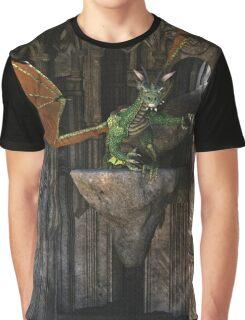 Dragon & Castle Fantasy Artwork Graphic T-Shirt