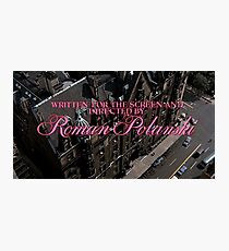 Rosemary's Baby OPENING TITLE - Roman Polanski Photographic Print