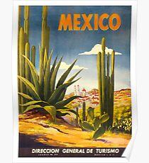 Weinleseplakat - Mexiko Poster
