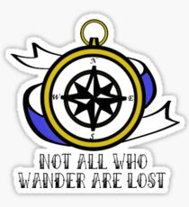 Not All Who Wander Are Lost - Compass Sticker