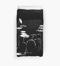 Drum kit black and white Duvet Cover