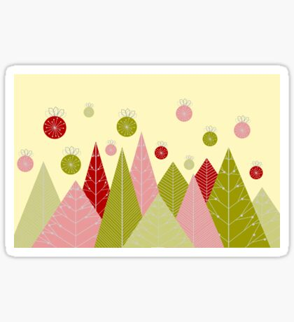 Ornaments and Trees Sticker