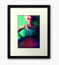 Drama queen in color Framed Print