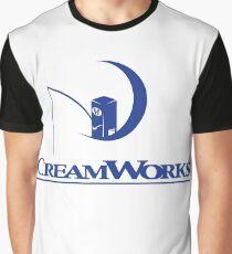 Dreamworks Logo Creamworks Parody Graphic T-Shirt