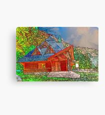 Wooden house of forester Canvas Print