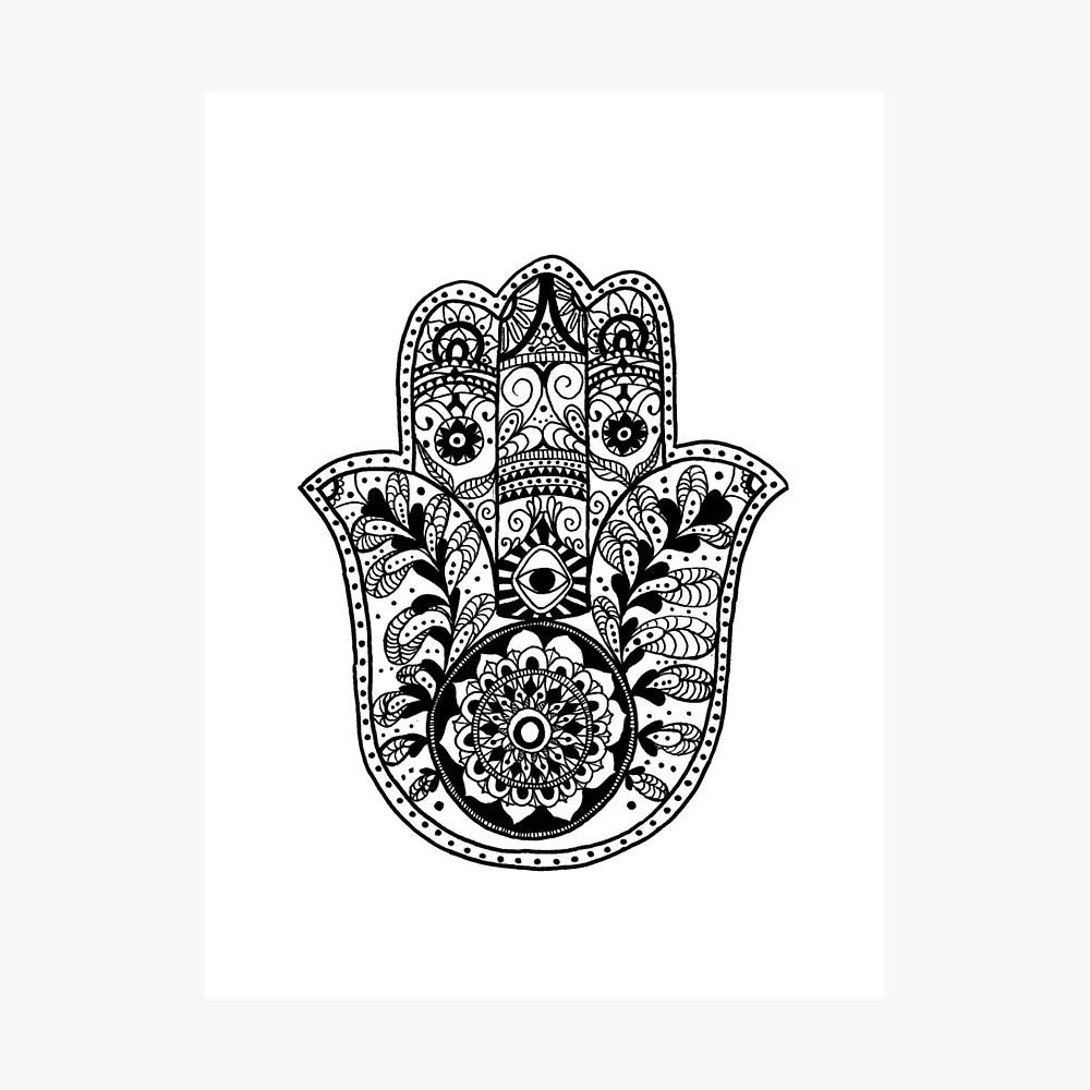 Die Hamsa-Hand Fotodruck