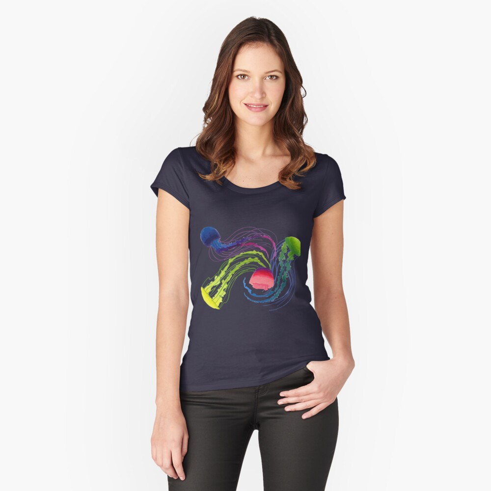 Jellyfish Fitted Scoop T-Shirt